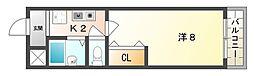 ラ・メール[2階]の間取り