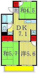 ワンオータム[2階]の間取り