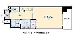 エイペックス京都東山三条 4階1Kの間取り