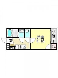 モダンアパートメント平野本町[1O2号室号室]の間取り