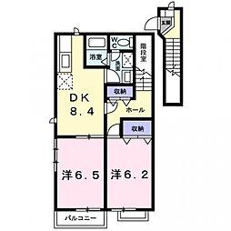コアンクレールB[202号室号室]の間取り