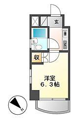 シングルハイツ新栄[7階]の間取り