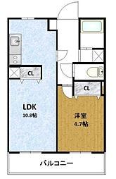 西船橋パークホームズ[508号室]の間取り