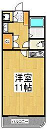 シグマ朝志ヶ丘ハイツ[204号室号室]の間取り