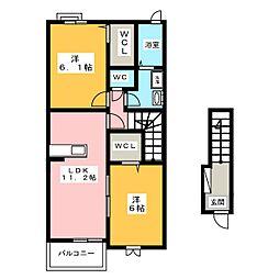 エアフォルク[2階]の間取り