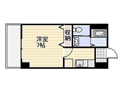 ラリーグラス22[3階]の間取り