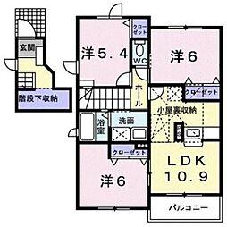 福岡県福岡市東区香椎台4丁目の賃貸アパートの間取り
