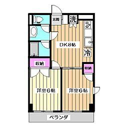 シャンテ上北沢[3階]の間取り