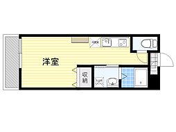 AMOTIS-K 2階ワンルームの間取り
