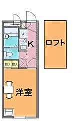 レオパレス北本西III[2階]の間取り