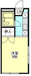 グレース秋桜[102号室]の間取り