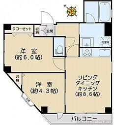 Villas at Koishikawa[2F号室]の間取り