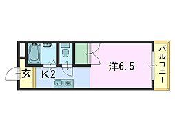 ファミール西大寺[201号室]の間取り