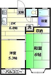 ディザイヤーコダマ[2階]の間取り