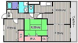 大阪府堺市堺区石津町1丁の賃貸マンションの間取り