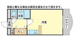 兵庫県高砂市米田町米田962丁目の賃貸マンションの間取り