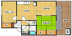 セジュール相田B棟[1階]の間取り