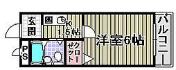 ロイヤル和泉1[2階]の間取り