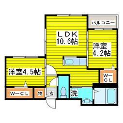 札幌市営東豊線 さっぽろ駅 徒歩5分の賃貸マンション 1階2LDKの間取り