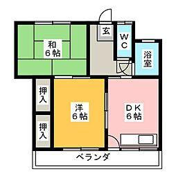コーポ小笠原[2階]の間取り