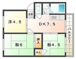 エクセレントファミール[2階]の間取り