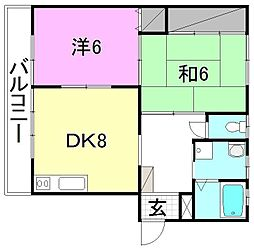 グレース土居田アパート[101 号室号室]の間取り