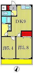 スワンボナール[4階]の間取り