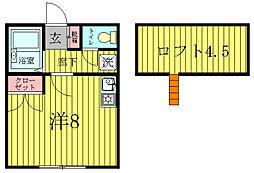 コーポ逆井[1階]の間取り