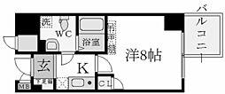 S-FORT西宮[6階]の間取り