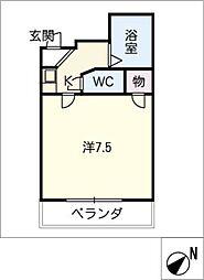 ラッフル春日井[5階]の間取り