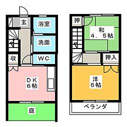 [テラスハウス] 静岡県焼津市石脇下 の賃貸【/】の間取り