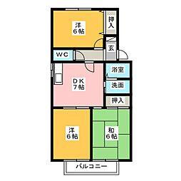 ノーブルカトウ B棟[2階]の間取り