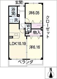 セレーナカーサ[3階]の間取り