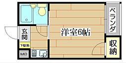 大阪府高槻市昭和台町1丁目の賃貸マンションの間取り