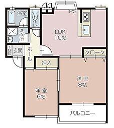 パールアネックス[2階]の間取り