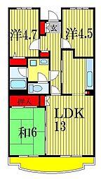 ブランシェ塚田[5階]の間取り