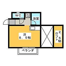 カーサユーツー[3階]の間取り