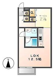 ルミナスパレス名駅[5階]の間取り