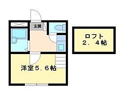 神奈川県川崎市高津区下作延4丁目の賃貸アパートの間取り