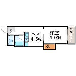 ハイツソレイユ[3階]の間取り