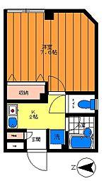テラス桜川[302号室]の間取り