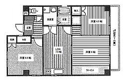 堂ヶ芝ハイツ[5階]の間取り