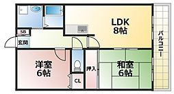アビタシオントーイ[2階]の間取り