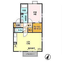 ELSION HOUSE I[201号室]の間取り
