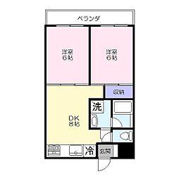 ラポール南太田[403号室]の間取り