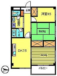 第3長庄マンション[4階]の間取り
