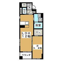セントレアカマVII[3階]の間取り