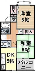 ルミネス瀬田[105号室号室]の間取り