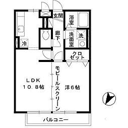 ベァーフルート深井[B305号室]の間取り