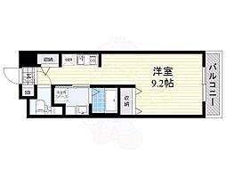 DAIWA RESIDENCE IBARAKI 9階ワンルームの間取り